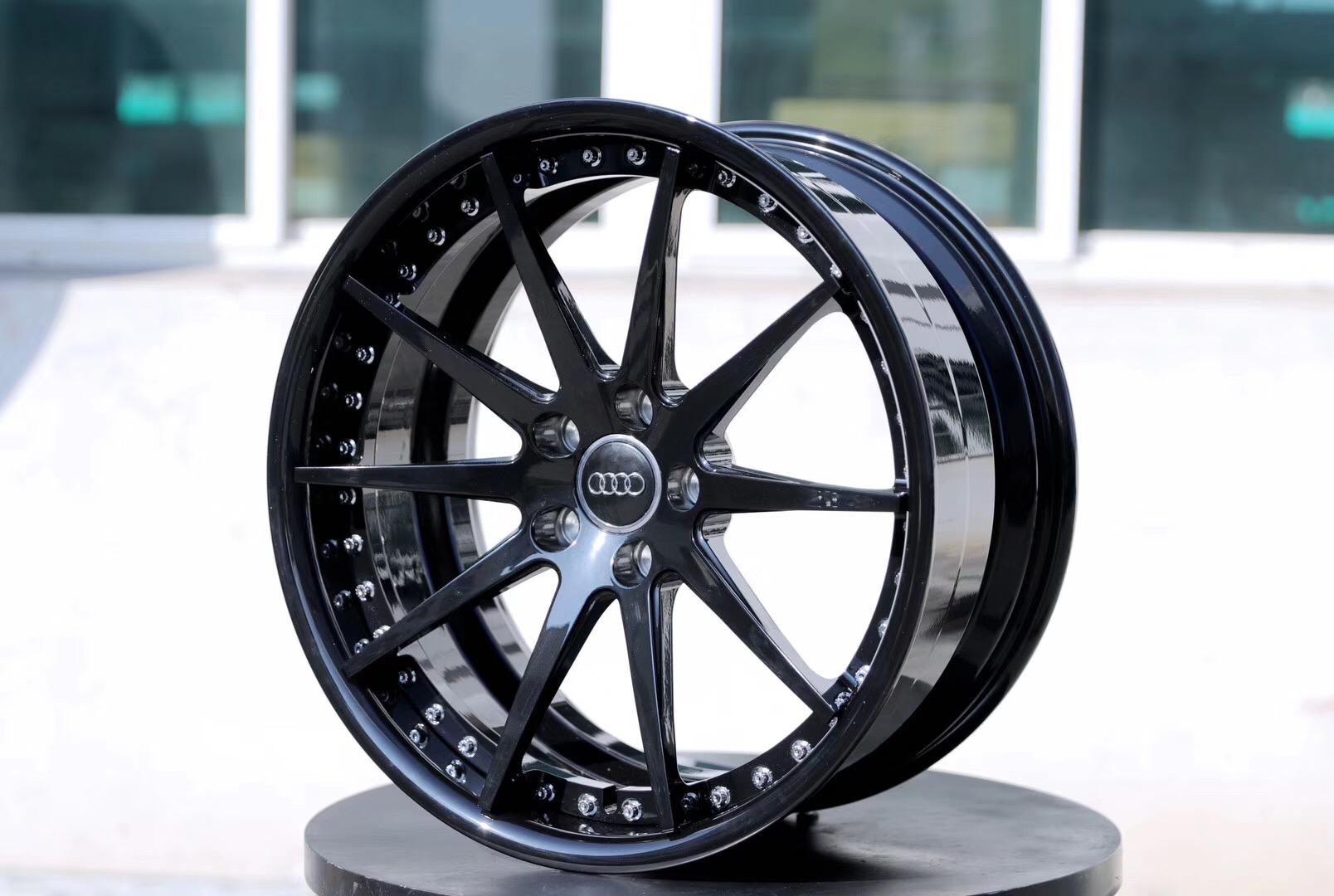 Audi forge rims A3/A4/A5/A6/A8/Q3/Q5/Q7/Q8 18-22 size provide customization