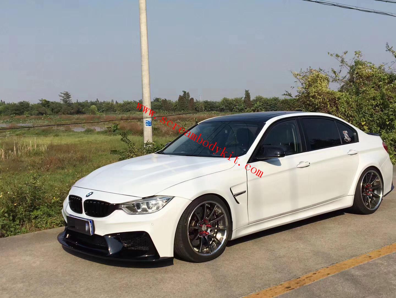 BMW F30 F35 320 325 328 wide body kit front bumper front lip after bumper rear lip side skirts fenders
