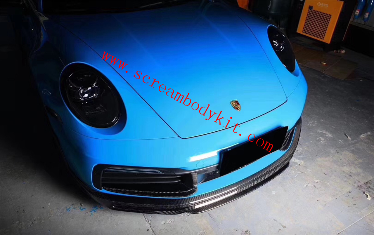 Porsche 991 992 carrear/carrears carbon fiber front lip side skirts spoiler