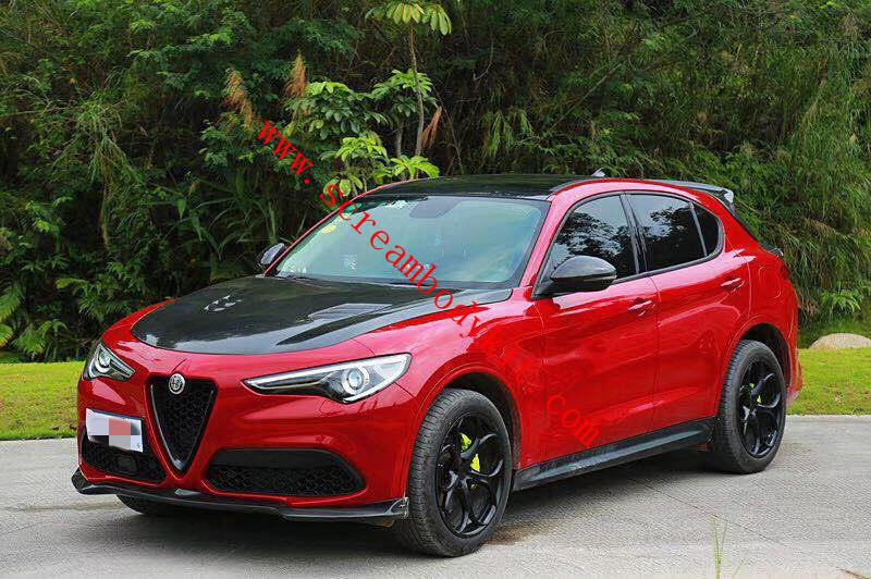 Alfa Romeo Stelvio kit front lip after lip side skirts spoiler hood