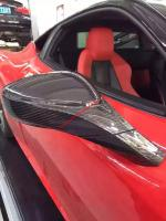 Ferrari F458 Update mirror cover after lip control panel carbon fiber