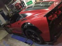 Chevrolet Corvette  z06 C7 update wide body kit and carbon fiber body kit front bumper after bumper side skirts
