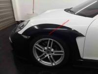 porsche 911 991 update Topcar wide body kit front bumper after bumper side skirts hood rear spoiler fenders
