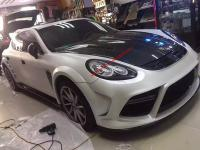 porsche panamera update mansory body kit wing carbon fiber front bumper after bumper side skirts hood rear spoiler fenders