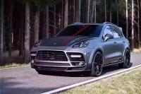 porsche cayenne 958 update mansory wide body kit front bumper after bumper side skirts hood rear spoiler fenders