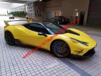 Ferrari F458 update MISHA wide body kit front bumper after bumper hood fenders