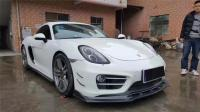porsche Cayman update carbon fiber body kit front lip after lip side skirts  spoiler