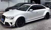 Audi A4L RS4 bodykit front bumper after bumper side skirts fenders spoiler