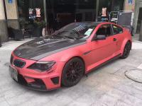 04-09 BMW 6 E64 Update Lumma Wide Body kit front bumper after bumper side skirts fenders hood spoiler