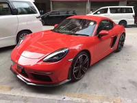 Porsche 718 Cayman or Boxster update Carbon Fiber body kit front lip after lip side skirts spoiler