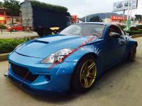 Nissan 350Z Z33 wide body kit front bumper after lip fenders