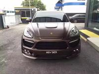 10-14 Porsche cayenne body kit front bumper after bumper side skirts  fenders hood spoiler