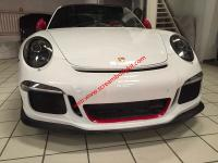 11-15 Porsche 911 991 update GT3 body kit front bumper after bumper side skirts hood rear spoiler