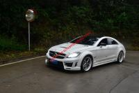 Benz W218 CLS300 CLS350 CLS63 update  GSC wide body kit front bumper after bumper side skirts fenders hood