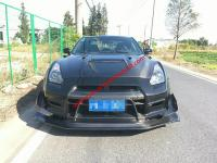 GTR update wide body kit front bumper after bumper side skirts hood spoiler fenders