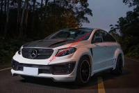 Mercedes-Benz GLE update Lm parts Carbon fiber wide body kit front bumper after bumper side skirts fenders hood
