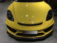 Porsche 718 cayman/ boxster update GT4 body kit front bumper lip after bumper lip side skirts rear spoiler