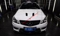 Mercedes-Benz W204 C63 Coupe front lip after lip side skirts  spoiler