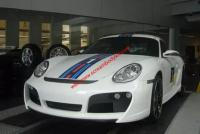 Porsche Cayman 987 boxster update TECHAR body kit front bumper after bumper side skirts wing rear spoiler