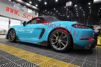 Porsche 718 Cayman boxster body kit front lip after lip hood side skirts carbon fiber