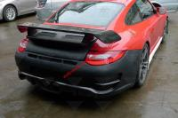 Porsche 997 update GT2 M carbon fiber front bumper after bumper side skirts wing rear spoiler