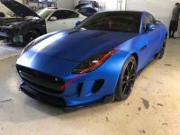 F-TYPE update carbon fiber wide body kit front lip side skirts after wing