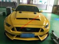 Mustang  update wide body kit  carbon fiber front lip after lip side skirts hood