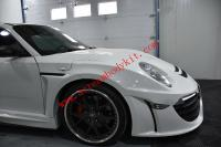 04-12 Porsche 911 997 update wide body kit front bumper after bumper fenders wing