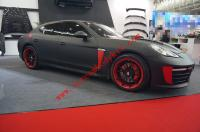 porsche panamera body kit front bumper after bumper side skirts hood spoiler old