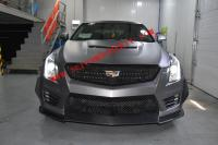 Cadillac ATSL update carbon fiber body kit front lip after lip side skirts wing hood