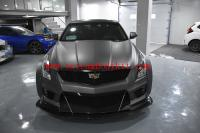 Cadillac ATSL update wide  body kit carbon fiber front lip after lip side skirts wing wheels borw