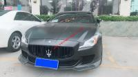 Maserati Quattroporte update carbon fiber body kit front lip after lip side skirts