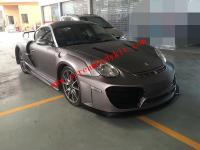 Porsche 987 Cayman boxster wide body kit front bumper after bumper side skirts fenders hood