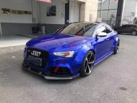 16-17 Audi A5 update wide body kit  carbon fiber front lip after lip side skirts and fenders