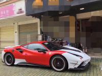Ferrari 488GT/GTB update MISHA wide body kit front bumper after bumper side skirts  hood front lip after lip