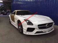 Benz SLS wide body kit front bumper after bumper hood wing side skitrs fenders