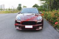 11-14 porsche cayenne 958 update HAMANN-EVO wide body kit front bumper after bumper side skirts hood