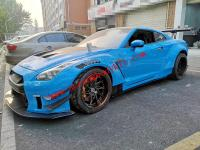 Nissan GTR R35 update LB TYPE.2 wide body kit front bumper after bumper wing spoiler hood fenders