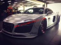 Audi R8 update LB wide body kit front lip after lip wing  fenders