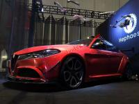 Alfa Romeo giulia update wide body kit front bumper fenders front lip after lip side skirts