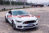 15-17 mustang update wide body kit type.4 front lip fenders after lip hood
