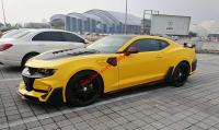New Chevrolet Camaro 6th update BUMBLE BEE Transformers wide body kit front bumper after bumper hood wing side skirts
