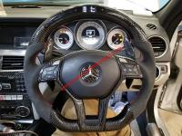 OLD OR NEW MODEL mercedes-benz CARBON  fiber or LED steering wheel