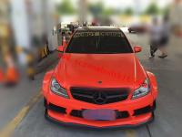 Mercedes-Ben W204 C63 AMG LB wide body kit front bumper front lip rear lip side skirts fenders Sedan coupe