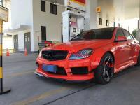 12-14 Mercedes-Benz W204 sedan c-class wide body kit front bumper front lip rear lip side skirts fenders Sedan coupe