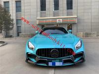 Mercedes-Ben AMG GT GTR update carbon fiber front bumper Steering wheel and rear bumper carbon fiber rear lip side skirts  grills spoiler