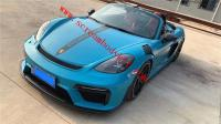 Porsche 718 Cayman or Boxster NEW GT4 front bumper GT3 RS fenders spoiler rear lip hood