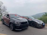 BMW F16 X6 update hamman wide body kit front bumper after bumper side skirts fenders hood