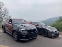 BMW F16 X6 update hamman wide body kit front bumper after bumper side skirts fenders hood