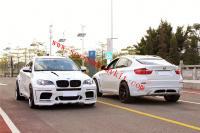 BMWX6 body kit E71 front bumper rear bumper side skirts fenders hood spoiler